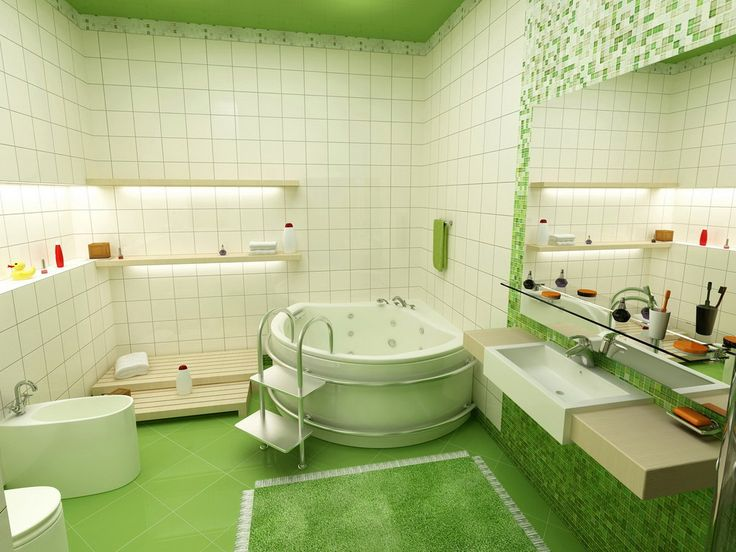 http://www.inmagz.com Best Inspiration Sweet Green Bathroom Wallpaper Yvt