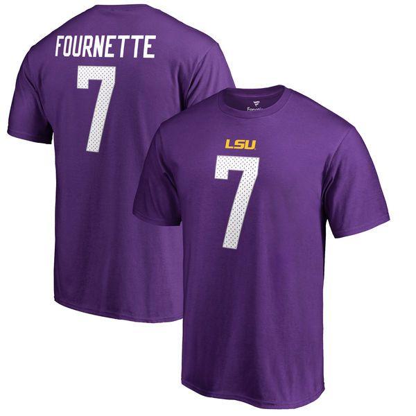 3da84cddf ... Leonard Fournette LSU Tigers Fanatics Branded College Legends Big Tall  T-Shirt - Purple ...