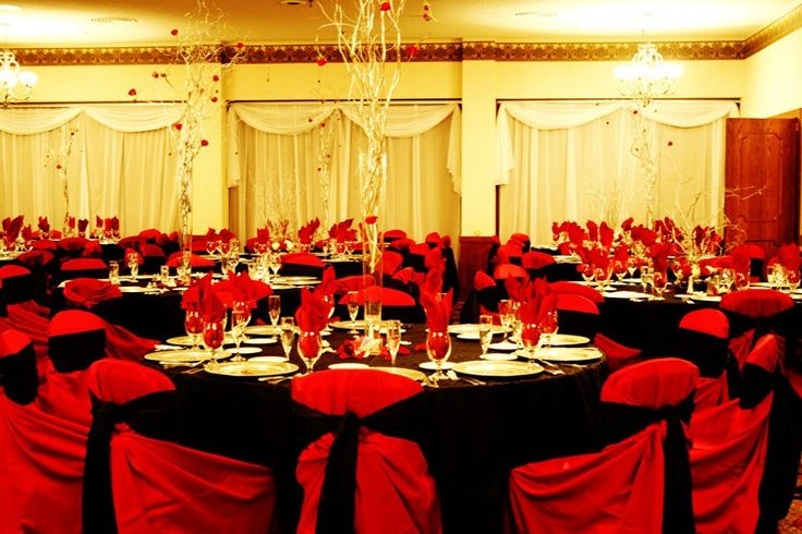 Image Detail For Red White And Black Wedding Table