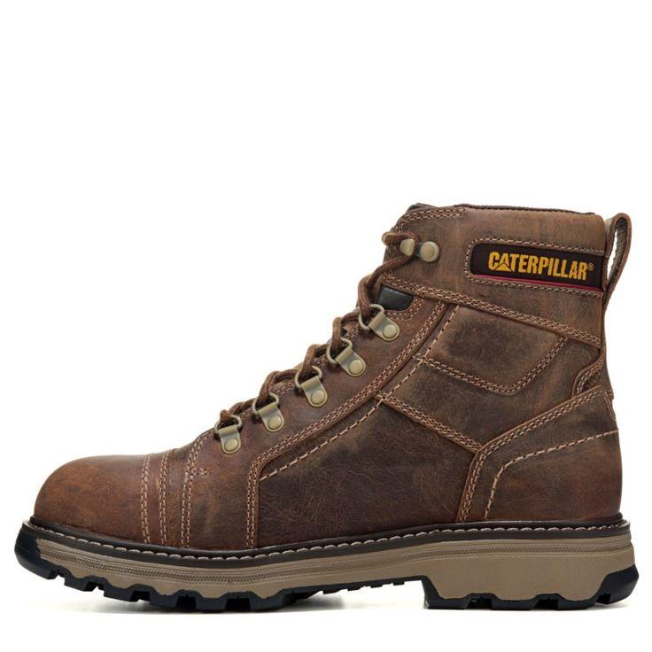 "Caterpillar Men's Granger 6"" Medium/Wide Slip Resistant Work Boots (Brown Leather) - 12.0 M"