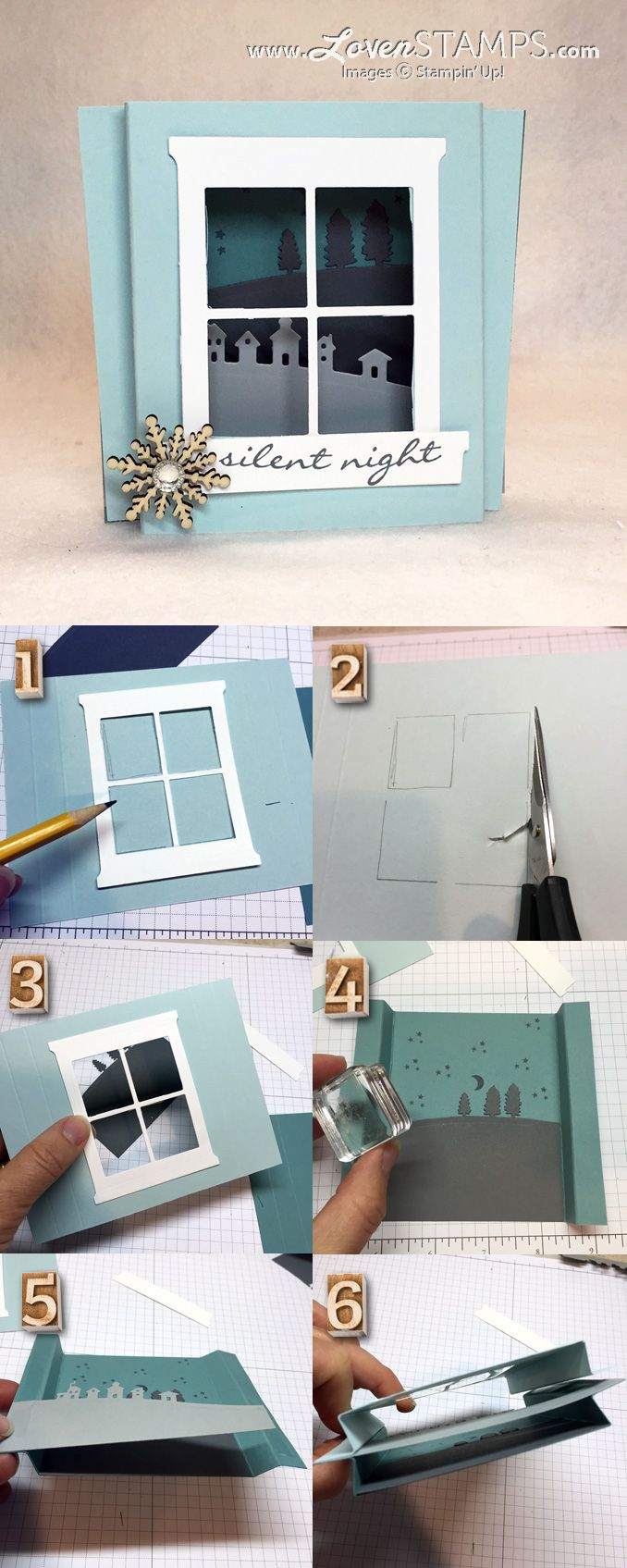 DIY Make Your Own Shadowbox Card - LovenStamps Stamps in the Mail Club, supplies…