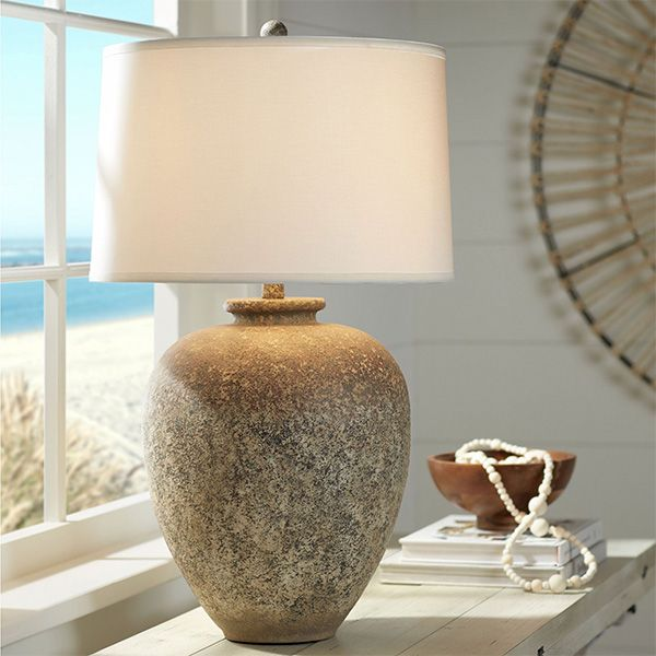 Cullen Earthy Natural Hued Table Lamp Table Lamp Lamp Bulb
