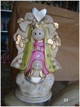 Virgencitas De Yeso Ceramico Para Bautizo, Nuevos Modelos!