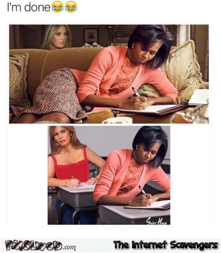 Melania Trump copying Michelle Obama funny meme
