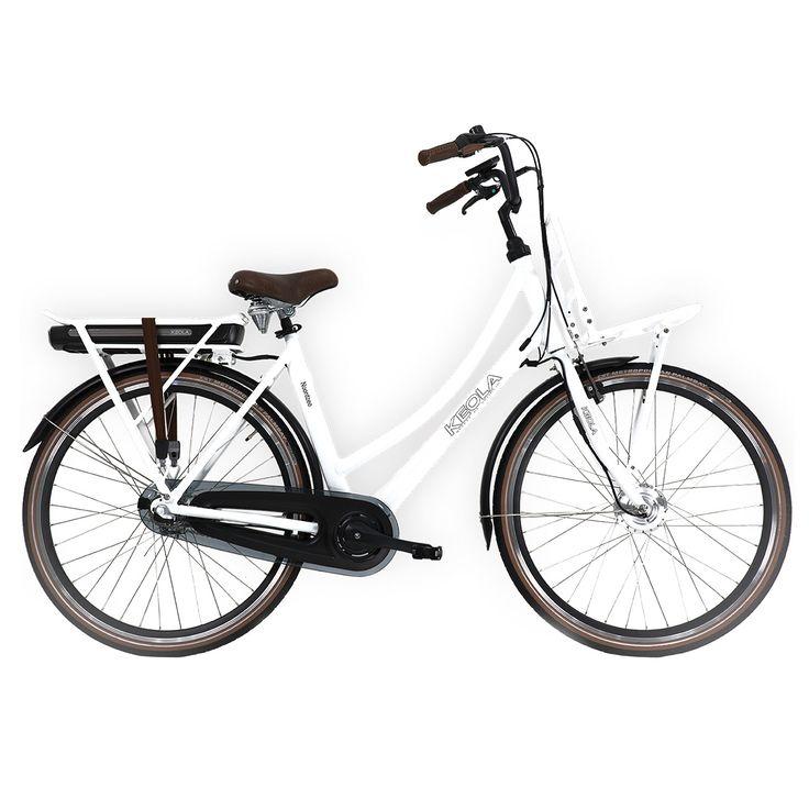 Keola Elektrische transportfiets Noordzee dames wit 53cm 560 Watt Wit  Description: De Keola Noordzee is een luxe elektrische 28 inch dames transportfiets met een lichtgewicht aluminium frame en een framehoogte van 53 centimeter. Uitgevoerd met een krachtige stille voorwielmotor. De Samsung accu met extra hoge capaciteit is krachtig en betrouwbaar want met zijn 36 volt en 156 ampére fiets je in de eco-stand 90 tot 110 kilometer. Halfords Bike Lease geeft je de mogelijkheid een elektrische…