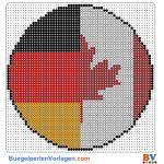 Flagge Kanada-Deutschland buegelperlen vorlagen web cd2d9