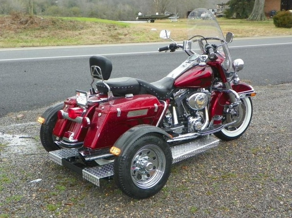 Trikes Motorcycle with trike kit.  Trip Trike