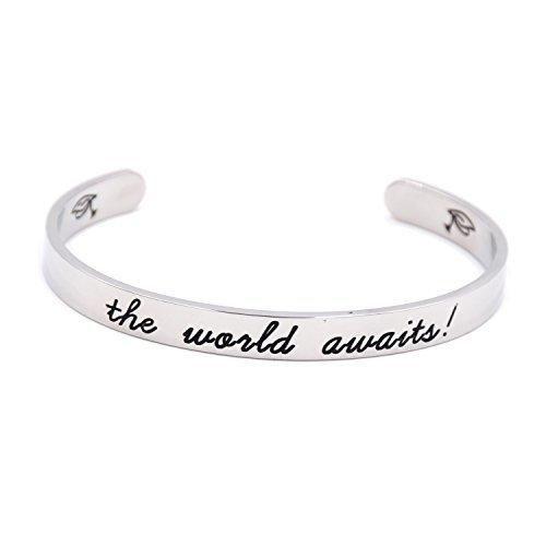 LParkin The World Awaits Bracelet  Stainless Steel (White)