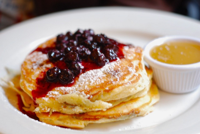 ... Blueberry pancakes at Clinton Street Baking Company | 4 Clinton St