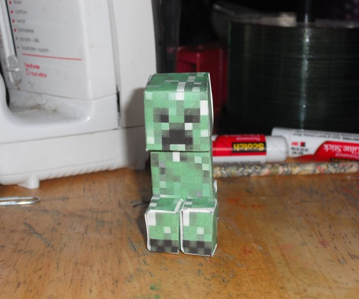 The papercraft Creeper From Minecraft