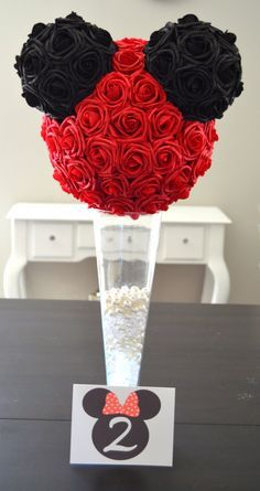 Disney Wedding Centerpiece Mickey Mouse Real Touch by KimeeKouture