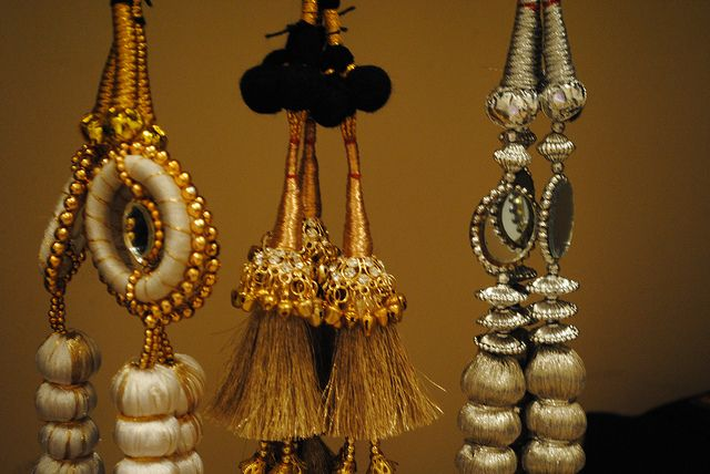 Paranda is a hair decoration of punjabi women. It's sort of a hair extension with these beautiful tassels at the end.