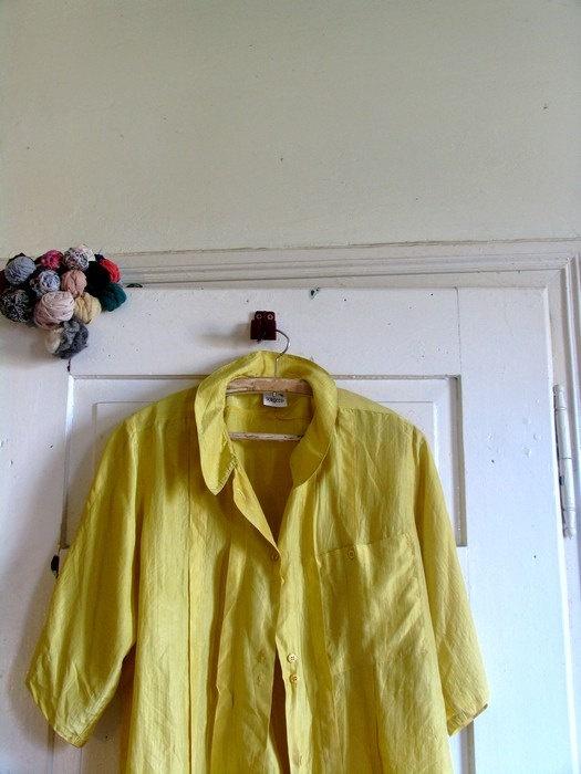 gold blouse 80s blouse silk blouse size 40 by artwardrobe on Etsy, $18.00