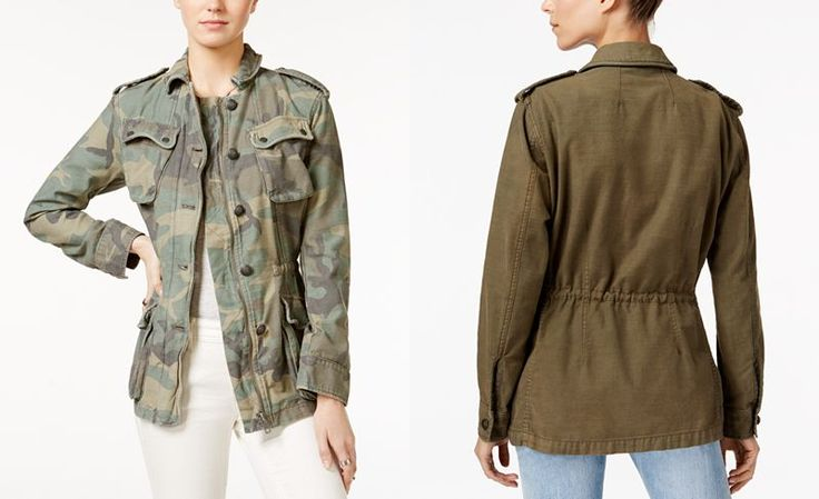 Free People Not Your Bros Camo-Print Military Jacket - Jackets - Women - Macy's