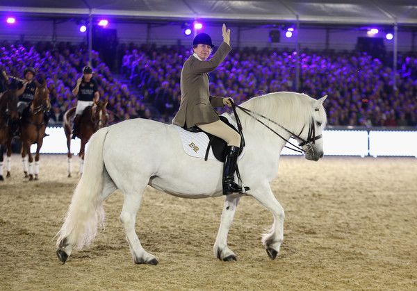 Anne, Princess Royal rides a horse during Queen Elizabeth II's 90th Birthday Celebrations at Home Park, Windsor on May 15, 2016 in Windsor, England.The show has run over four nights to celebrate the Queen turning 90. The show features 1,500 performers, 900 horses and tells the story of the life of the Queen. Members of the Royal Family have attend the show each night and the Queen will attend on the last evening