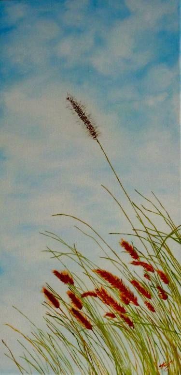 """Saatchi Art Artist Nicole Theresia Spitzwieser; Painting, """"Gersten-Ähren - barleycorn"""" #art"""