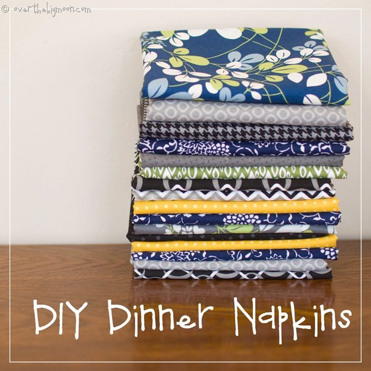 DIY Easy Sew Dinner Napkins | Over the Big Moon