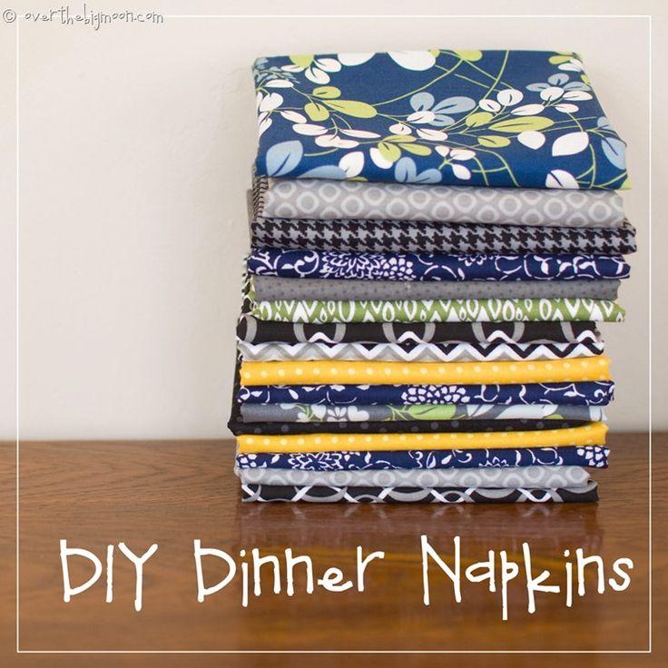 DIY Easy Sew Dinner Napkins | Over the Big Moon