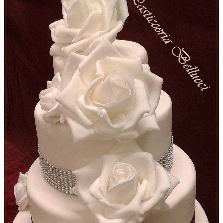 Torta di Matrimonio decorata cake design Pasticceria Bellucci a Firenze