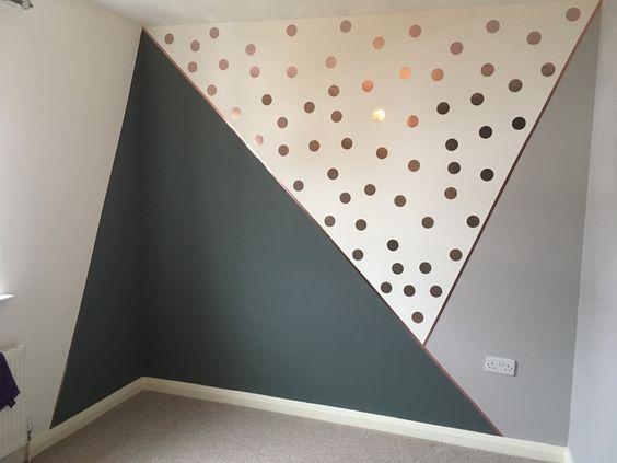 geometrische Wandkunst mit Punkten – Trend NB