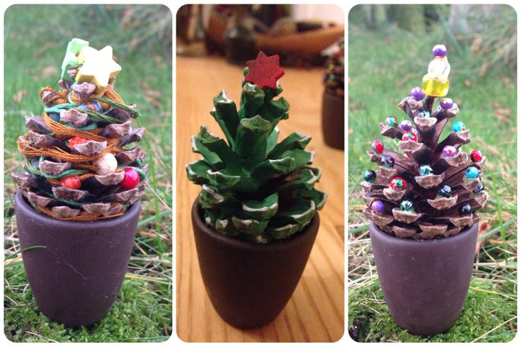 The simple things. Pine cones with a few beads, paint or threaded beads make ace Christmas trees