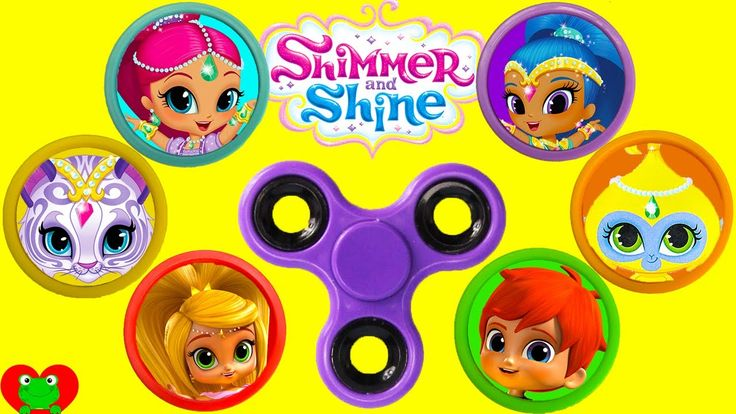 Shimmer and Shine Fidget Spinner Game Best Learn Colors Video Shopkins S...
