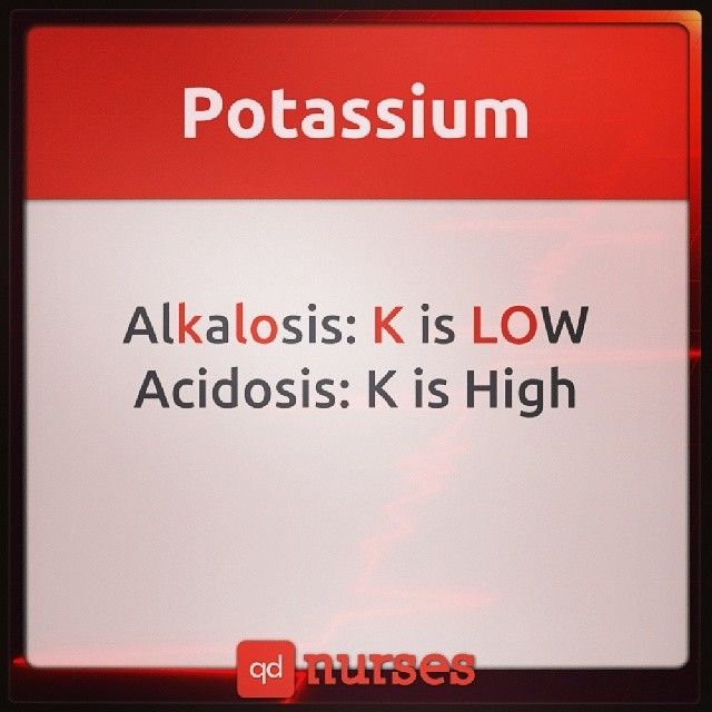 How is Potassium affected in metabolic acidosis and metabolic alkalosis