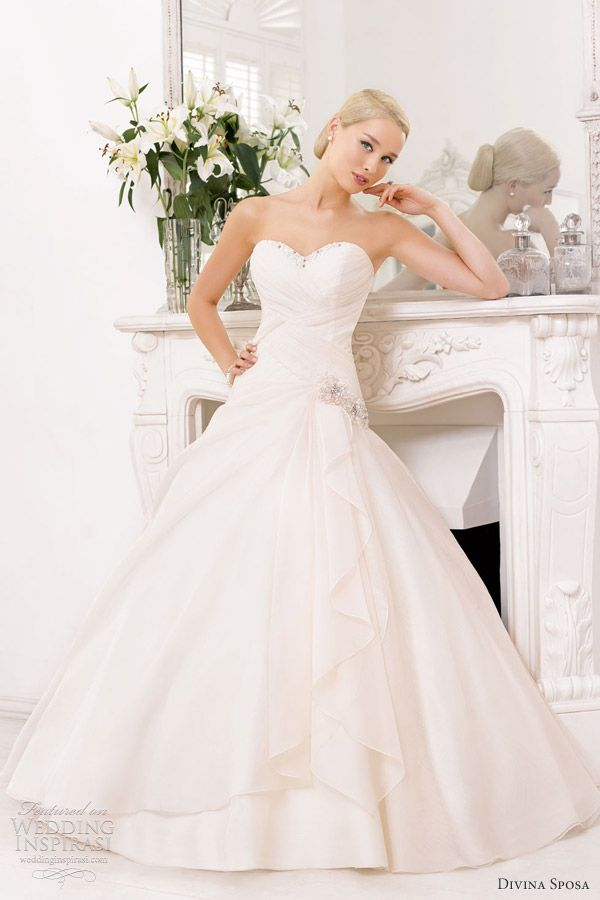 divina sposa wedding dress 2013 strapless sweetheart bridal gown