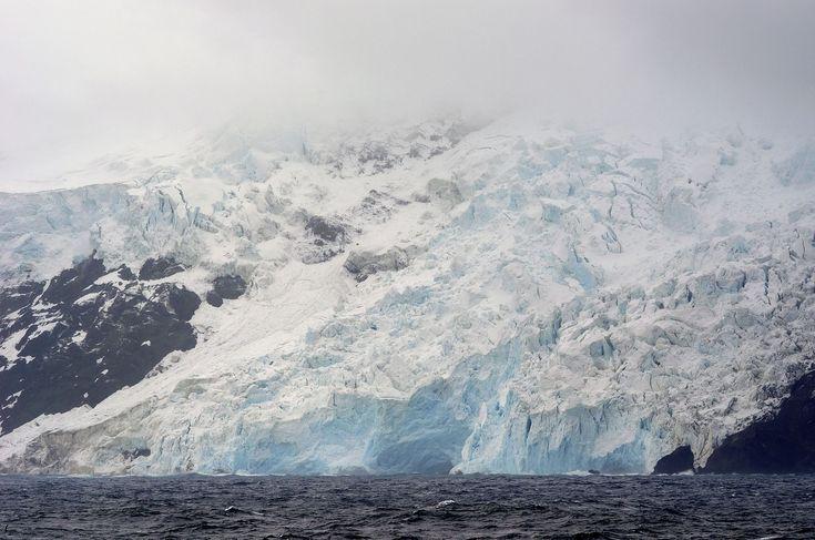 Glacier on Bouvet Island's West Coast