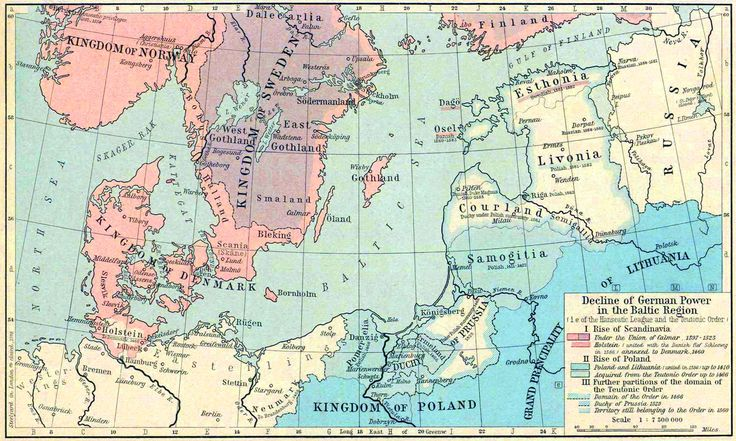 Map of the Baltic Region 1386-1560