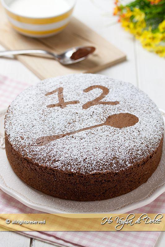 torta 12 cucchiai al cacao ricetta senza bilancia
