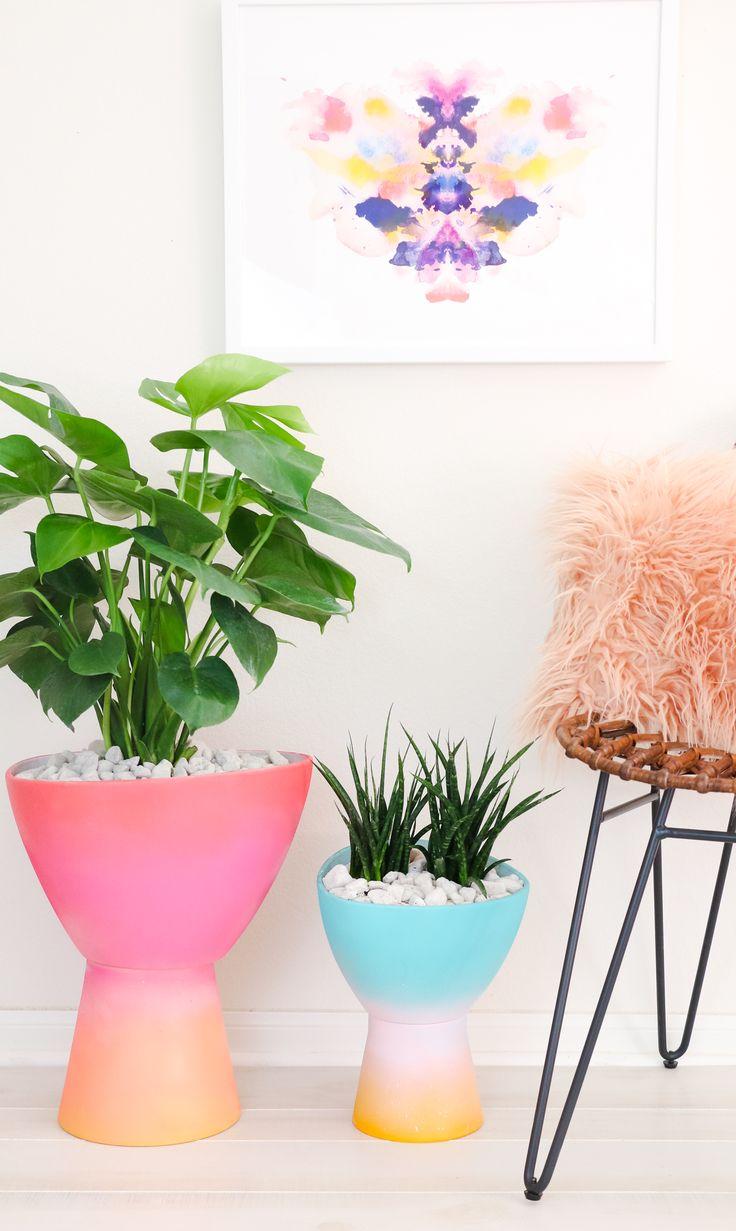 DIY Gradient Planter (Click Through for Tutorial)        _