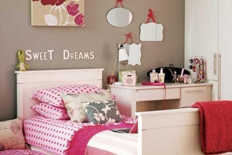Комната с декоративными зеркалами для девочки