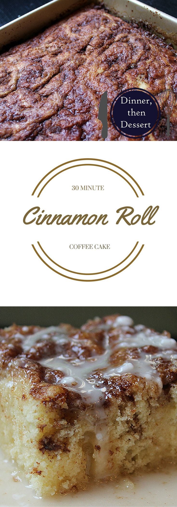 Ready in just 30 minutes, this cinnamon roll coffee cake has all the same flavors as cinnamon rolls but with 5% of the effort!