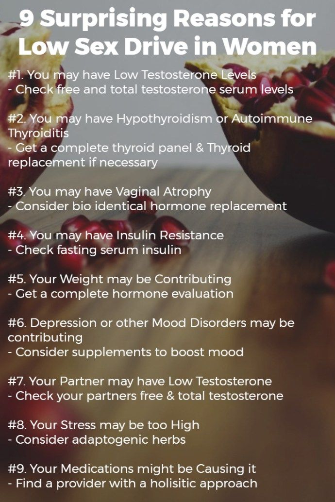 Reasons for low sex drive in women pinterest image