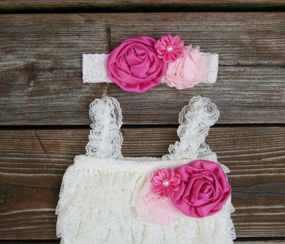 Rosa 1 º traje de cumpleaños. Conjunto Pañalero de por KadeesKloset