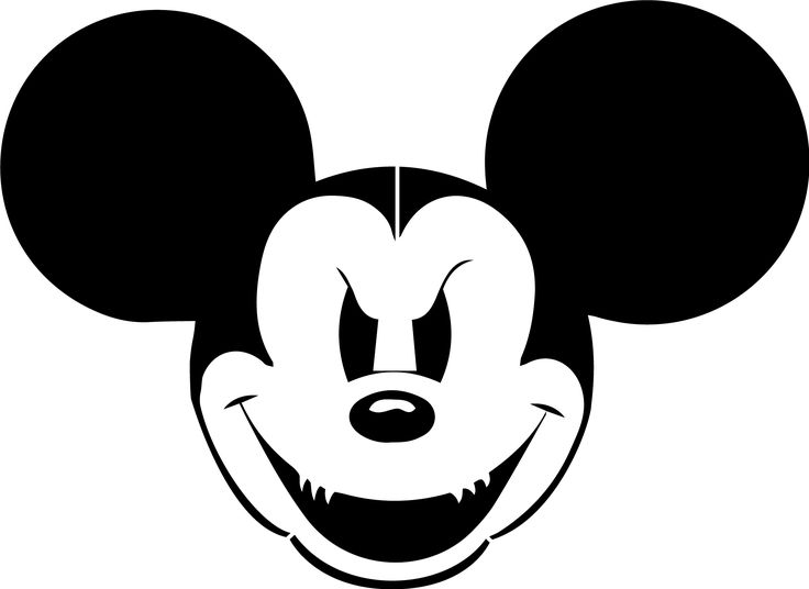 Evil mickey stencil template stencil pinterest mice for Vampire mickey mouse pumpkin template