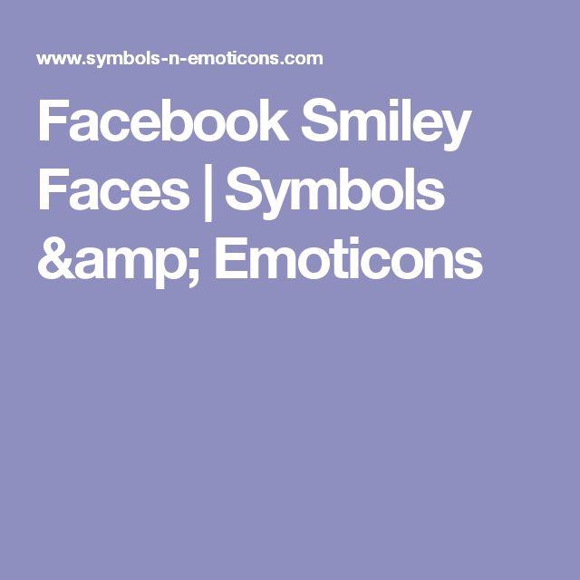 Facebook Smiley Faces   Symbols & Emoticons