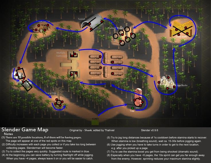 Slender man | Image - Slender Guide Route.png - The Slender Man Wiki