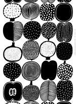 Vatruska-kangas (valkoinen, musta)  Kankaat, Puuvillakankaat   Marimekko