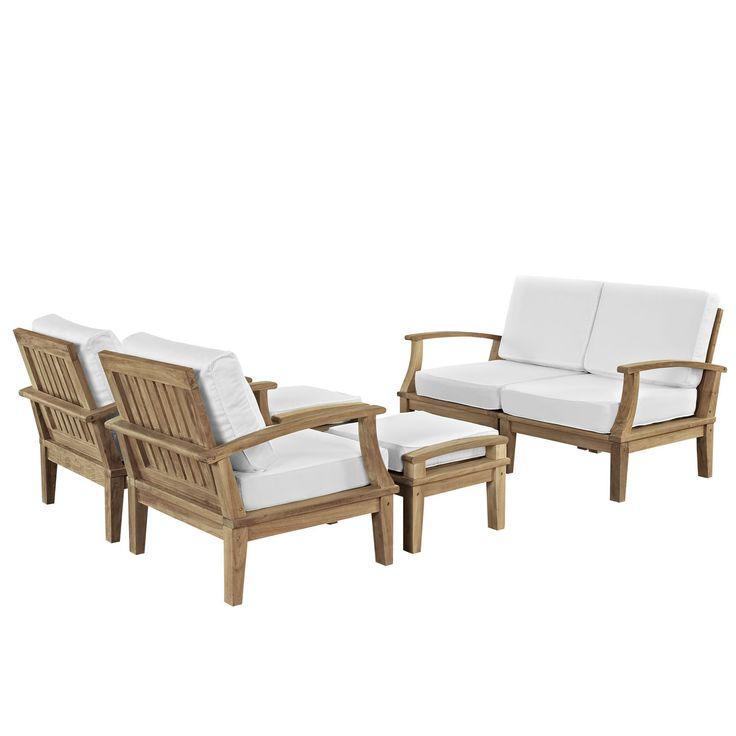 Modway Marina 6 Piece Outdoor Patio Teak Sofa Set