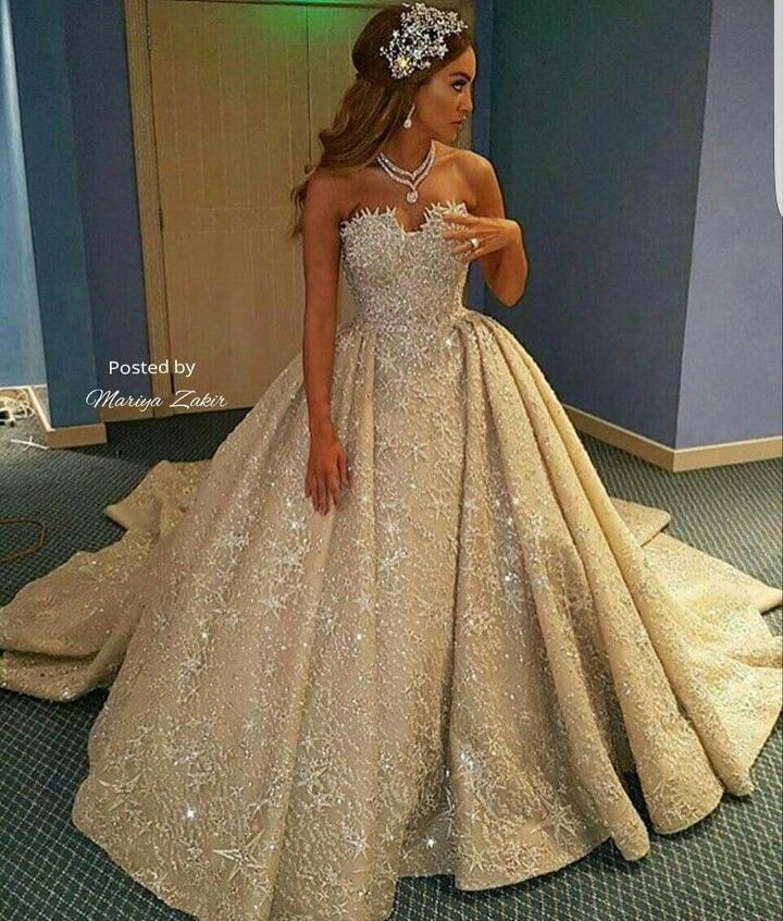 25 Best Ideas About Champagne Colored Wedding Dresses On: Mariya Zakir Dress Blinged Out! Looking Like Royalty