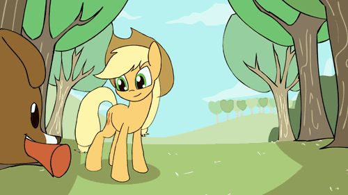 Playtime With Applejack: The Cutest Animated Gif
