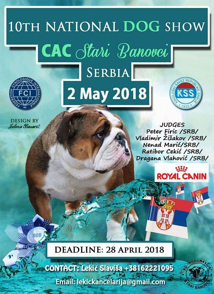 10th National Dog Show Cac Stari Banovci Serbia 2 May 2018