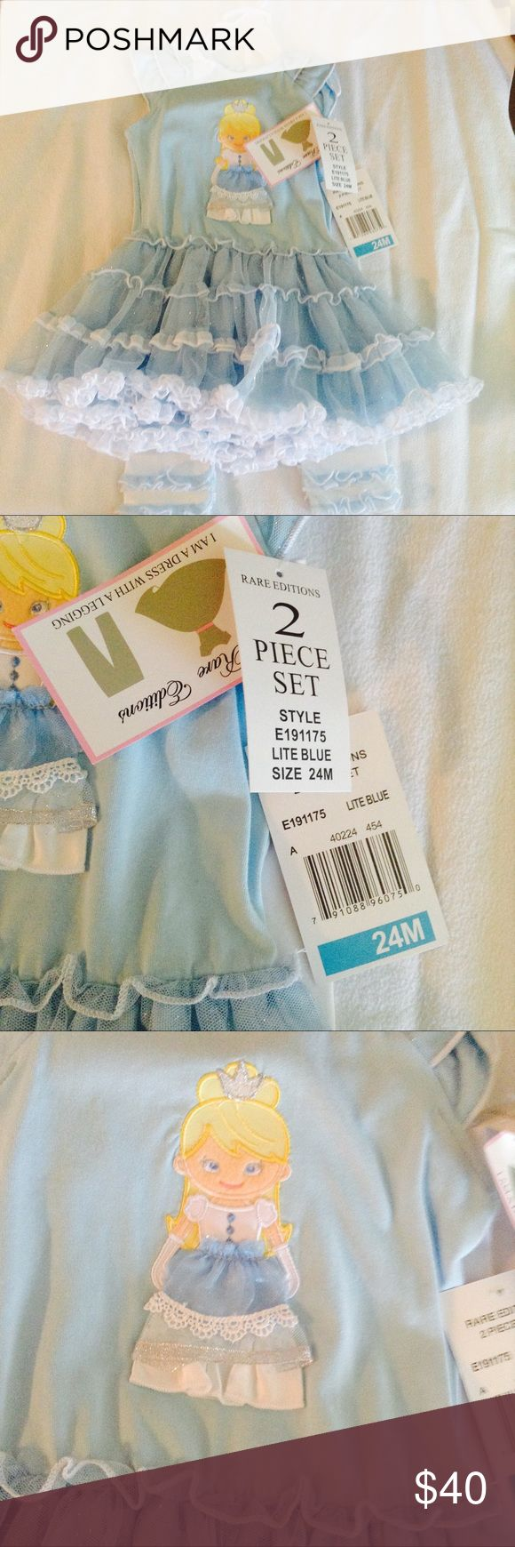NEW Rare Editions Cinderella Outfit New with tags. 24 months. Price is between $45-$55 Rare Editions Matching Sets