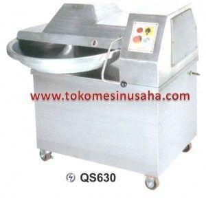 Bowl Cutter QS630:  Dimensi (mm) : 990 x 810 x 980 Watt : 2.200 Voltage : 380V/3P Kapasitas produksi (kg/jam) : 300 Volume : 25 L Berat : 318 Kg
