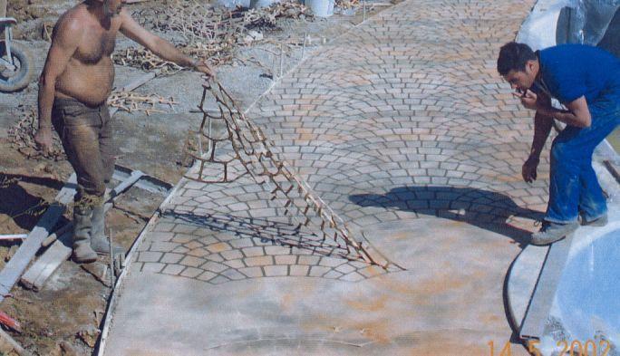 Béton imprimé - Beton decoratif exterieur | BricoBistro