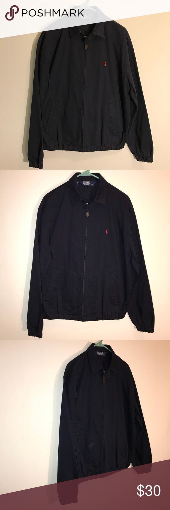 Men's Ralph Lauren Polo Jacket HELLO EVERYONE, I AM OFFERING AN AWESOME  Navy Blue Ralph Lauren Polo Jacket    This Navy Blue Ralph Lauren Polo Jacket is In Great Condition. Navy blue with red Polo Pony emblem.  Size Tag says it's a Medium    Please SEE THE PICTURES FOR MORE DETAIL       Thanks For looking    ALL ITEMS WILL BE PACKED SECURELY Polo by Ralph Lauren Jackets & Coats