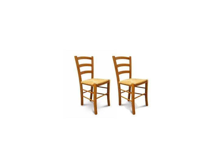 Lot De 2 Chaises Tina Assise Paille Vente De Hellin Conforama Avec Images Chaises Bois Chaise Paille