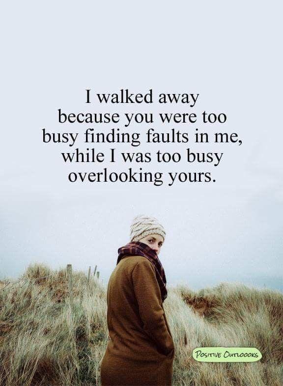 I️ walked away...